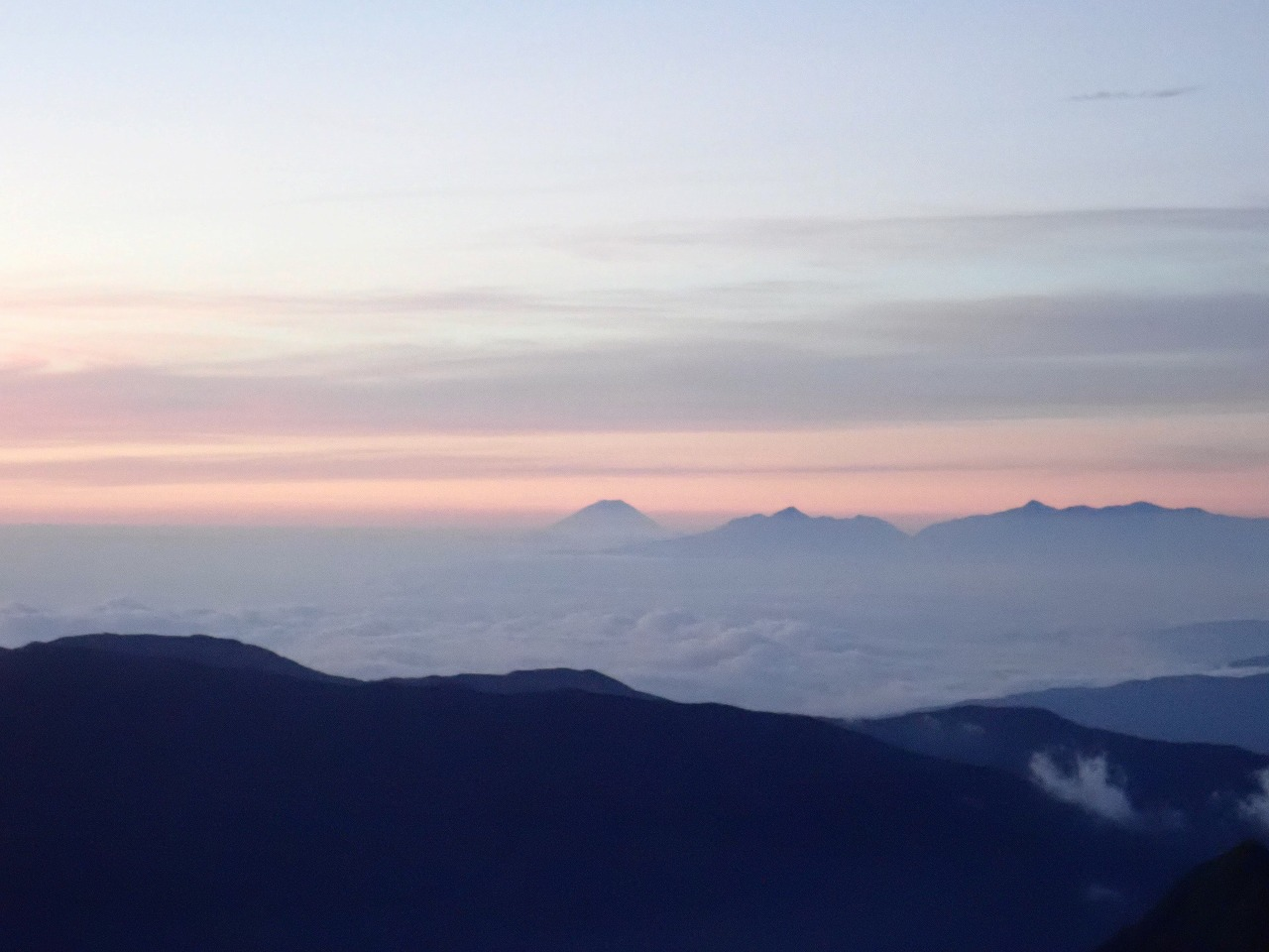 槍ヶ岳から富士山