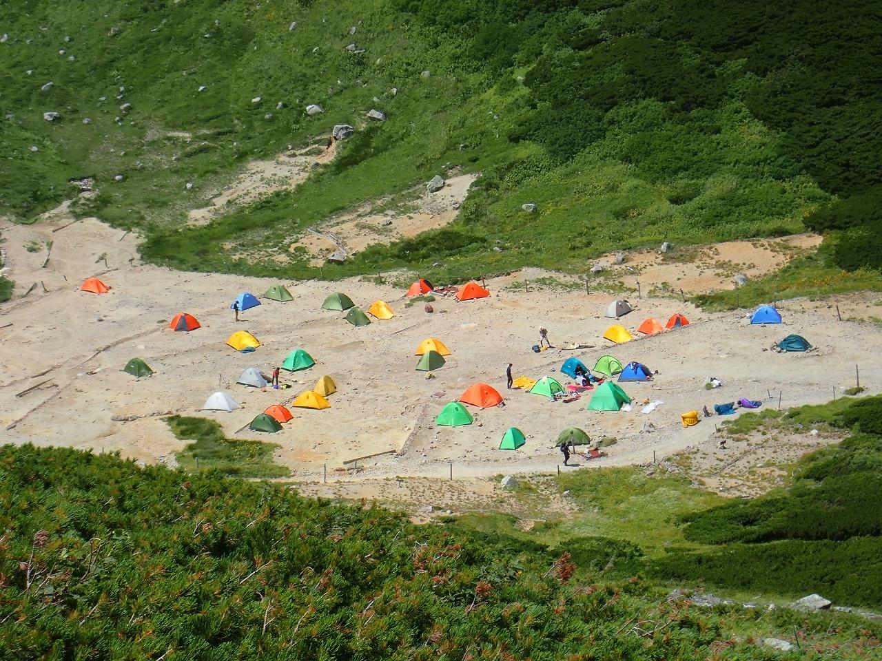 双六岳 テント